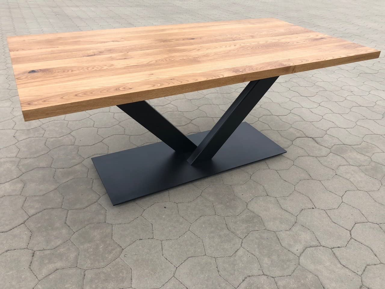 Dining Table Solid Wild Oak Top 9 cm Thick 9 x 9 Genuine 9 cm ...