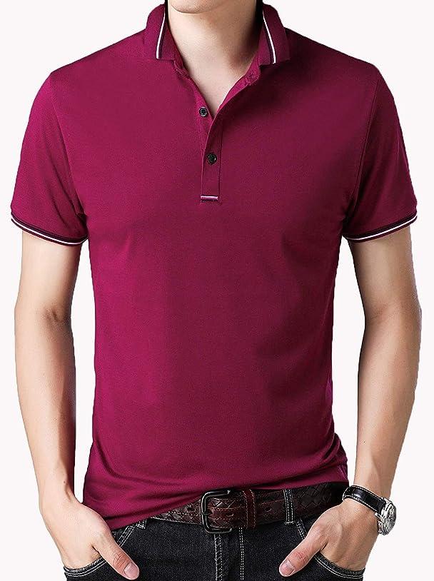 呼びかける抜粋ハンドブック[ Smaids x Smile (スマイズ スマイル) ] ポロシャツ 半袖 Tシャツ ゴルフウェア ドライ 襟 ライン 無地 男性 メンズ
