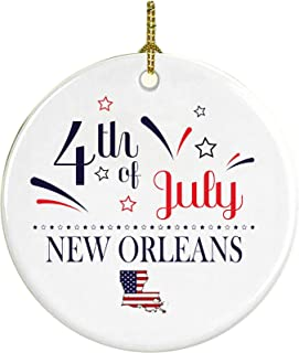 4Th Of July Decorations For The Home New Orleans Louisiana Independence Day Decor Decorations Patriotic American Red White Blue Star Decorations America Pride Ceramic 3 inches
