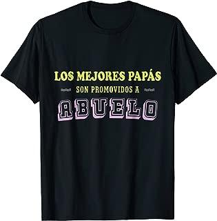 Mens Camiseta Los Mejores Papas Abuelo Best Grandpa Spanish Shirt