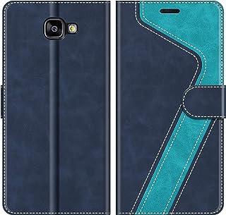 MOBESV Funda para Samsung Galaxy A3 2016, Funda Libro Samsung A3 2016, Funda Móvil Samsung Galaxy A3 2016 Magnético Carcasa para Samsung Galaxy A3 2016 Funda con Tapa, Elegante Azul