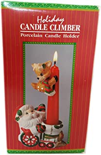 Giftco, Inc Holiday Candle Climber Porcelain Candle Holder