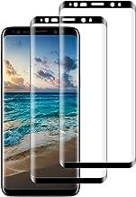 DASFOND Protector Pantalla para Samsung Galaxy S8, [2 Piezas] Cristal Templado Galaxy S8 Vidrio Templado,[3D Cobertura Completa] [9H Dureza] [Sin Burbujas],HD Transparente Resistente Arañazos-Negro
