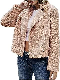 Women Casual Coat Winter Warm Outwear Ladies Zipper Jacket Loose Pocket Coat Overcoat