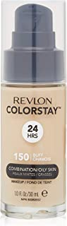 Revlon ColorStay Liquid Foundation Makeup for Combination/Oily Skin SPF 15, Longwear Medium-Full Coverage with Matte Finish, Buff (150), 1.0 oz