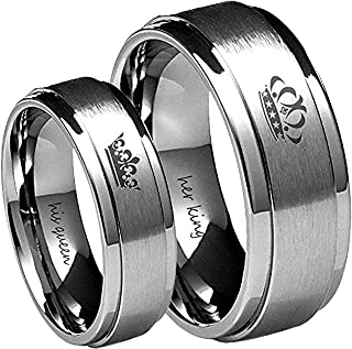 king and queen rings silver