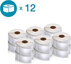 DYMO Authentic LabelWriter Multi-Purpose Labels for LabelWriter Label Printers, White, 1'' x 2-1/8'' (30336), 12 rolls of 500