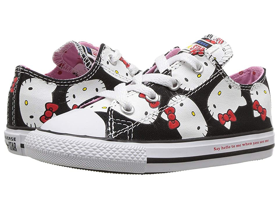 Converse Kids Hello Kitty(r) Chuck Taylor(r) All Star(r) Ox (Infant/Toddler) (Black/Prism Pink) Girl