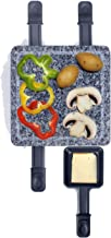 Raclette Grill 4 personnes Pierre chaude – Grill de table électrique 600 W – Grill électrique avec plaque en pierre – 4 po...