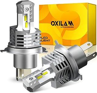 【令和最強 業界初モデル】 H4 LED ヘッドライト 車用 OXILAM ZES LEDチップ搭載 驚異の明るさ 12000LM(6000LM*2) 6000K DC9V-32V 高輝度 新車検対応 LEDバルブ 無極性 冷却ファン付き 静音...