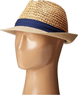 Two Weave Banded Fedora