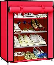 Ebee Shoe Rack with 4 Shelves (Pink)