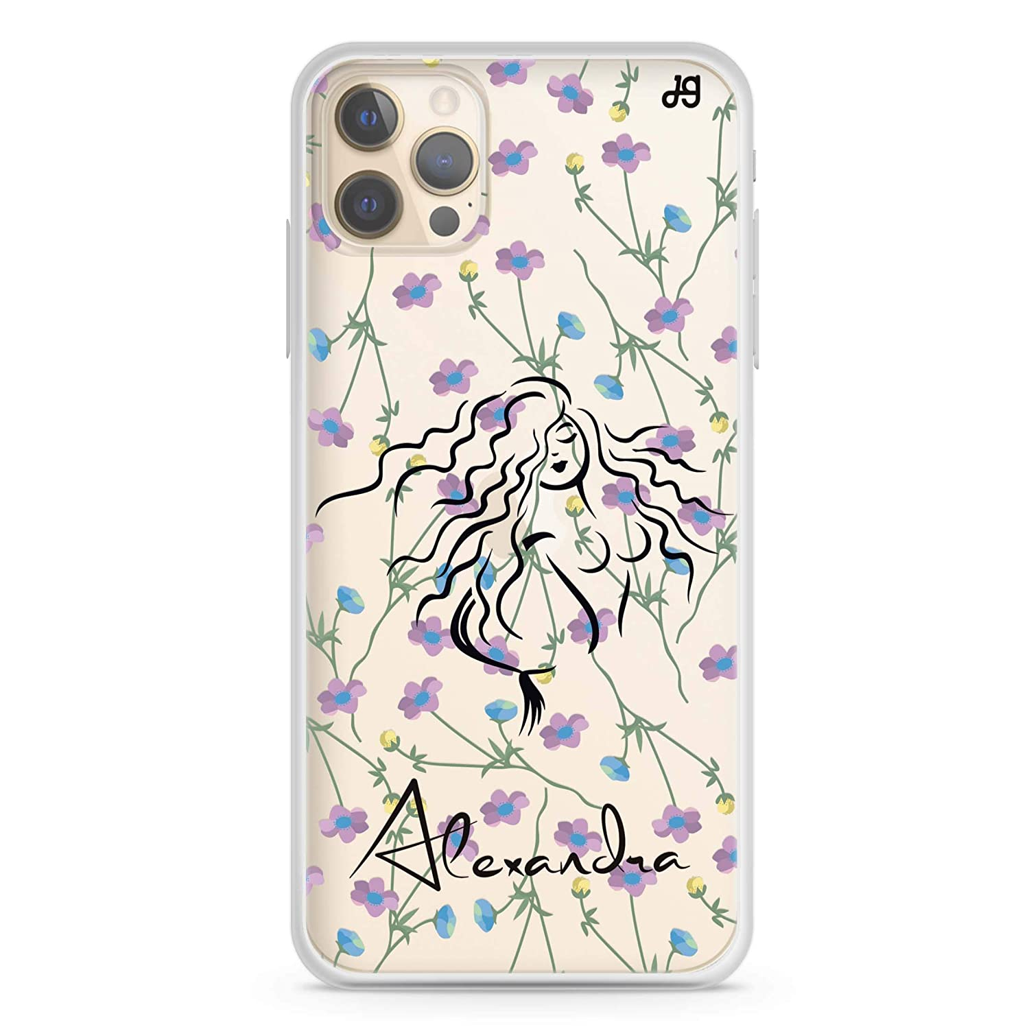 Floral Fairy II iPhone Manufacturer OFFicial shop 12 Pro Soft iP Baltimore Mall Clear Case Max