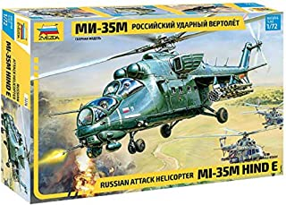 ZVEZDA 7276 - Russian Attack Helicopter MI-35M HIND E - Plastic Model Kit Scale 1/72 Lenght 11,5