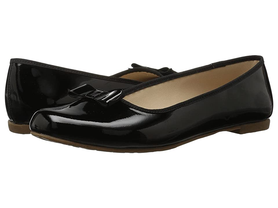 Elephantito Camille Flats (Toddler/Little Kid/Big Kid) (Patent Black) Girls Shoes