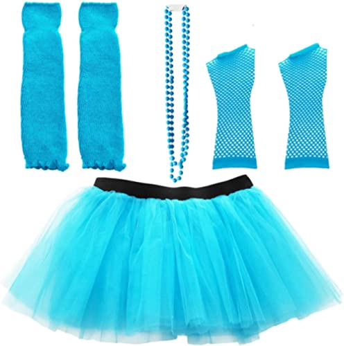 Dreamdanceworks 80s Costumes Accessories Set for Women Tutu Skirt