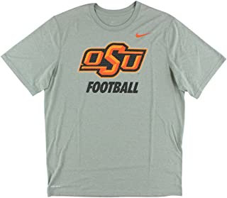 Men's Oklahoma State CowBoy's College Legend FB Logo T Shirt Heather Grey