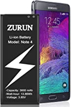 Galaxy Note 4 Battery ZURUN 3600mAh Li-ion Replacement Battery for Samsung Note 4 [N910,N910U LTE,AT&T N910A,Verizon N910V,Sprint N910P,T-Mobile N910T] Note 4 Spare Battery [2 Year Warranty]