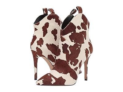Jessica Simpson Pixille 2 (Off-White/Brown Cow Print Haircalf) Women