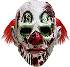 Halloween Scary Evil Clown Mask Horror Face Zombie Costume