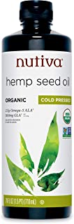 Nutiva Organic Cold-Pressed Unrefined Hemp Oil, 24 Ounce