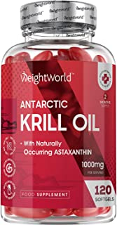 Krill olie softgels - 1000 mg krillolie met astaxanthine - 120 softgel capsules voor 2 maanden voorraad - Bevat 220 mg Ome...