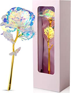 JOBOSI Pink Box Colorful Roses Flower Unique Gifts for Women Galaxy,Gift for Her/Wife/Mom/Girlfriend/Girl in Valentines Da...