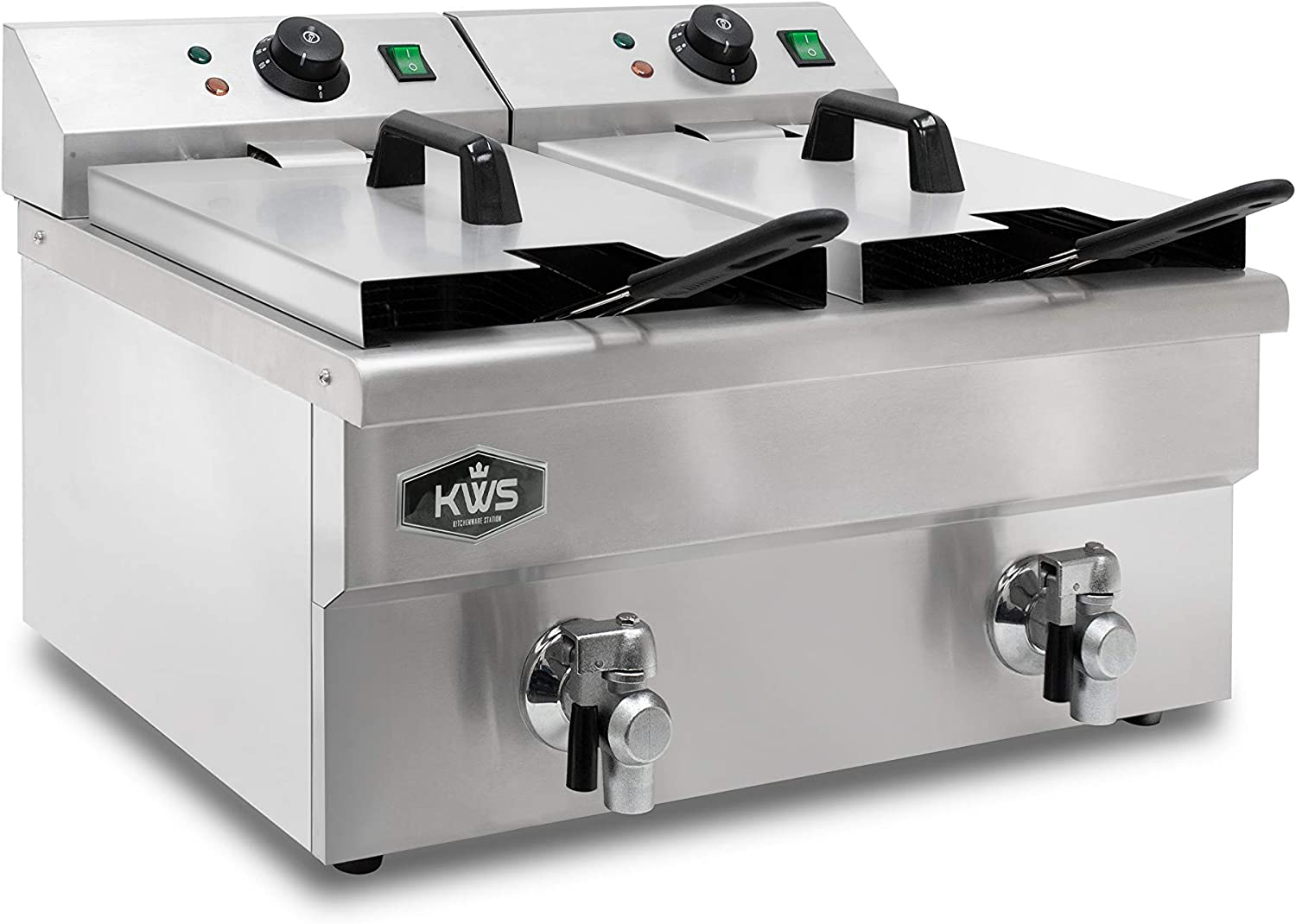 KWS DY-22 OFFer Sales Commercial 3500W Electric 22.7L S Stainless Deep Fryer