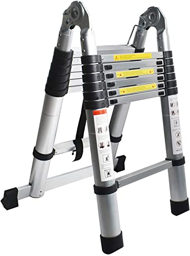 lowest netuera Aluminum Telescopic Extension high quality Ladder A-Frame Portable popular Multi-Purpose Ladder A-Shape Ladder Collapsible Ladder 12.5FT 14.5FT 16.5FT Multi-Use Non-Slip 330LBS Capacity outlet sale