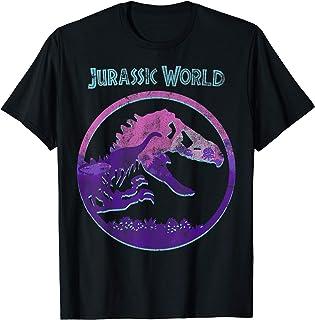 Jurassic World Purple Hue Sunset Logo Fill T-Shirt