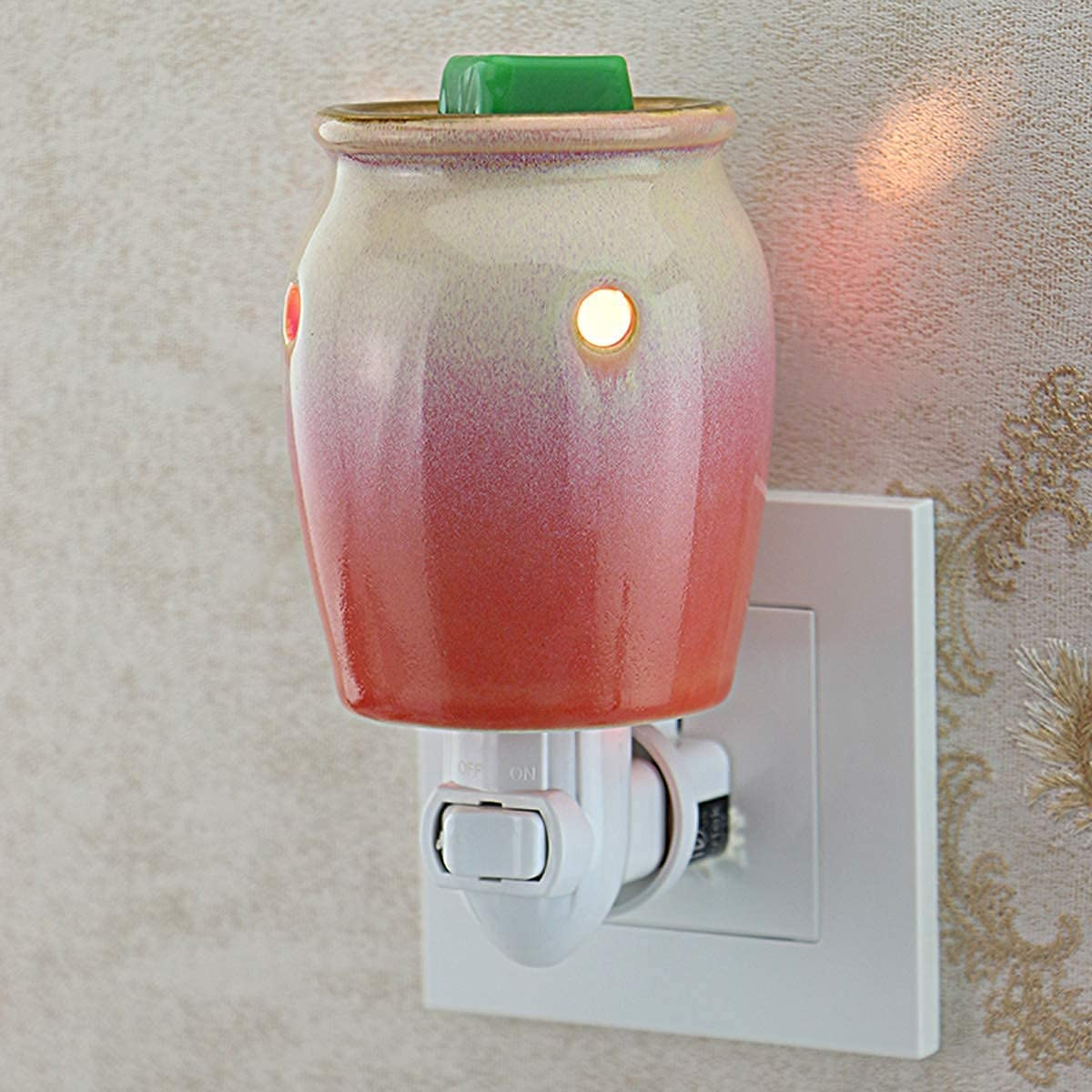 STAR MOON Scentsy Wax Warmer Plug in for Home Décor, Candle Wax Warmer, No Flame, with One More Bulb, Blossom