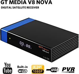 GTMEDIA V8 Nova DVB S2 TV ricevitore satellitare Satellite decoder Support 1080P Full HD PowerVu Biss chiave Newca CC CAM Set-Top Box, con Built-in WiFi - Azul