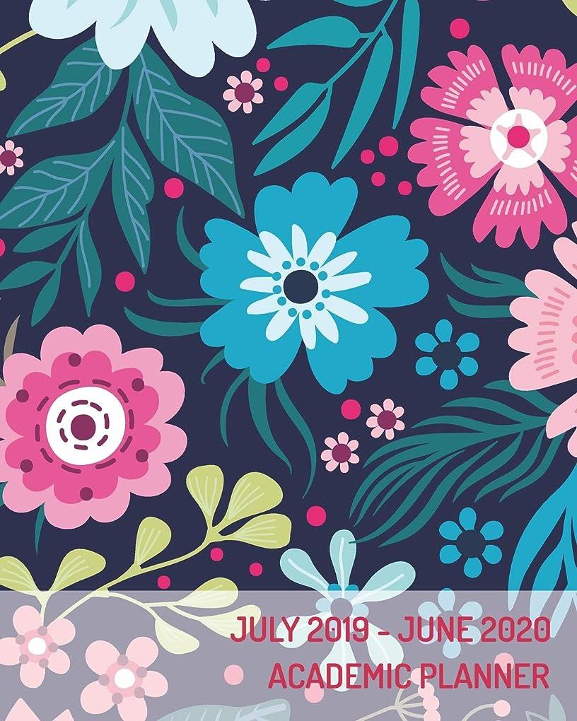 配偶者厚さ眼July 2019-June 2020 Academic Planner: Academic Calendar Monthly Weekly and Day Planner Appointment Book and Schedule Organizer 2019-2020, Floral Background (July 2019 - June 2020 Academic Calendar)