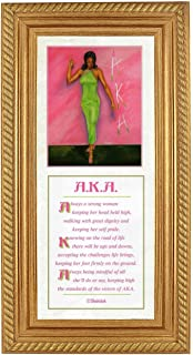 Strong Woman by Fred Mathews & Shahidah (20x8 inches - Framed Art Print - Gold Frame)
