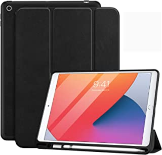 """MoKo Case Fit New iPad 10.2"""" 2020/2019 with Apple Pencil Holder, Slim Lightweight Smart Shell Stand Cover Case Fit iPad 8t..."""