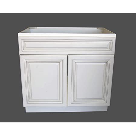 Vanity Art 36 Inches Bathroom Vanity Cabinet Solid Wood White Finish Single Shutter Door 2 Extension Drawers Undermount Sink Cabinet Va4036 2rw Kitchen Dining