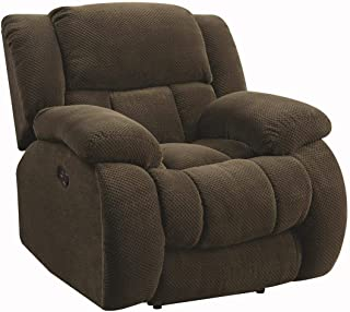 Coaster Home Furnishings Weissman Pillow Padded Glider Recliner Chocolate, Brown