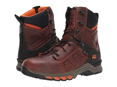 Timberland PRO 8 Hypercharge Soft Toe Waterproof (Brown Teak Trailblazer) Men