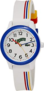 Lacoste Unisex-Child White Dial Multiple Color Silicone Watch - 2030027