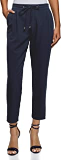 oodji Ultra Women's Trousers with Elastic Waistband and Drawstrings