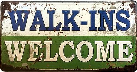 WALK-INS/WELCOME Dubai Metal Plate Vintage Tin Sign