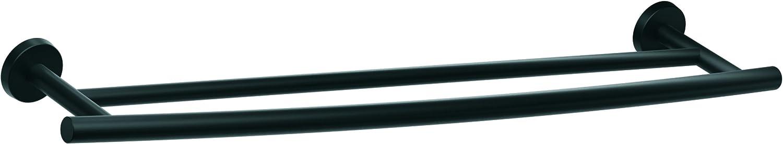 Amerock BH26545MB Arrondi Double Towel Bar, 24 in (610 mm), Matte Black