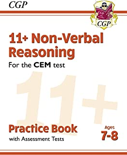 New 11+ CEM Non-Verbal Reasoning Practice Book & Assessment Tests - Ages 7-8 (CGP 11+ CEM)