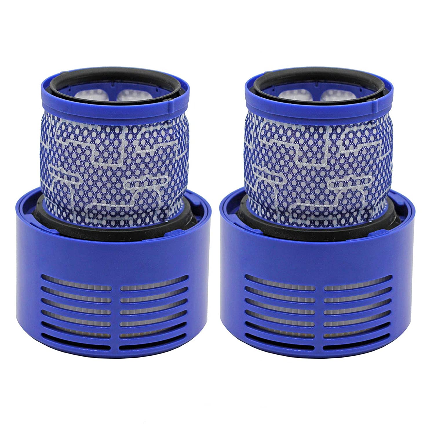 Wolfish 2 Pack Replacement Filter for Dyson V10, SV12 Cyclone Animal Absolute Total Clean Vacuum Cleaners, Replace Part # 969082-01