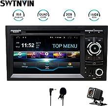 SWTNVIN Unidad de audio estéreo para coche Android 10 compatible con Audi A4 reproductor de DVD radio de 7 pulgadas pantalla táctil HD navegación GPS con control de volante Bluetooth WiFi 2 GB + 16 GB