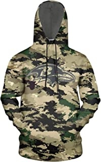 ONGEDS Camouflage Sports Pullover Hoodies Sweater for Mens Veterans Day 3D Print Coat