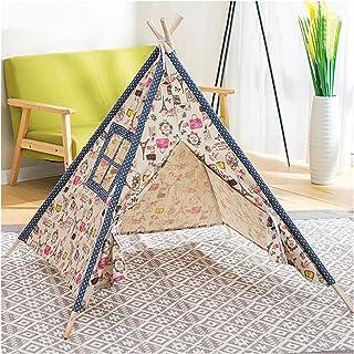 YSJJWDV Teepee tält barn tält bärbar barn tält Tipi Infantil baby Tipi tält LED dekoration matta utomhus inomhus stort lek...