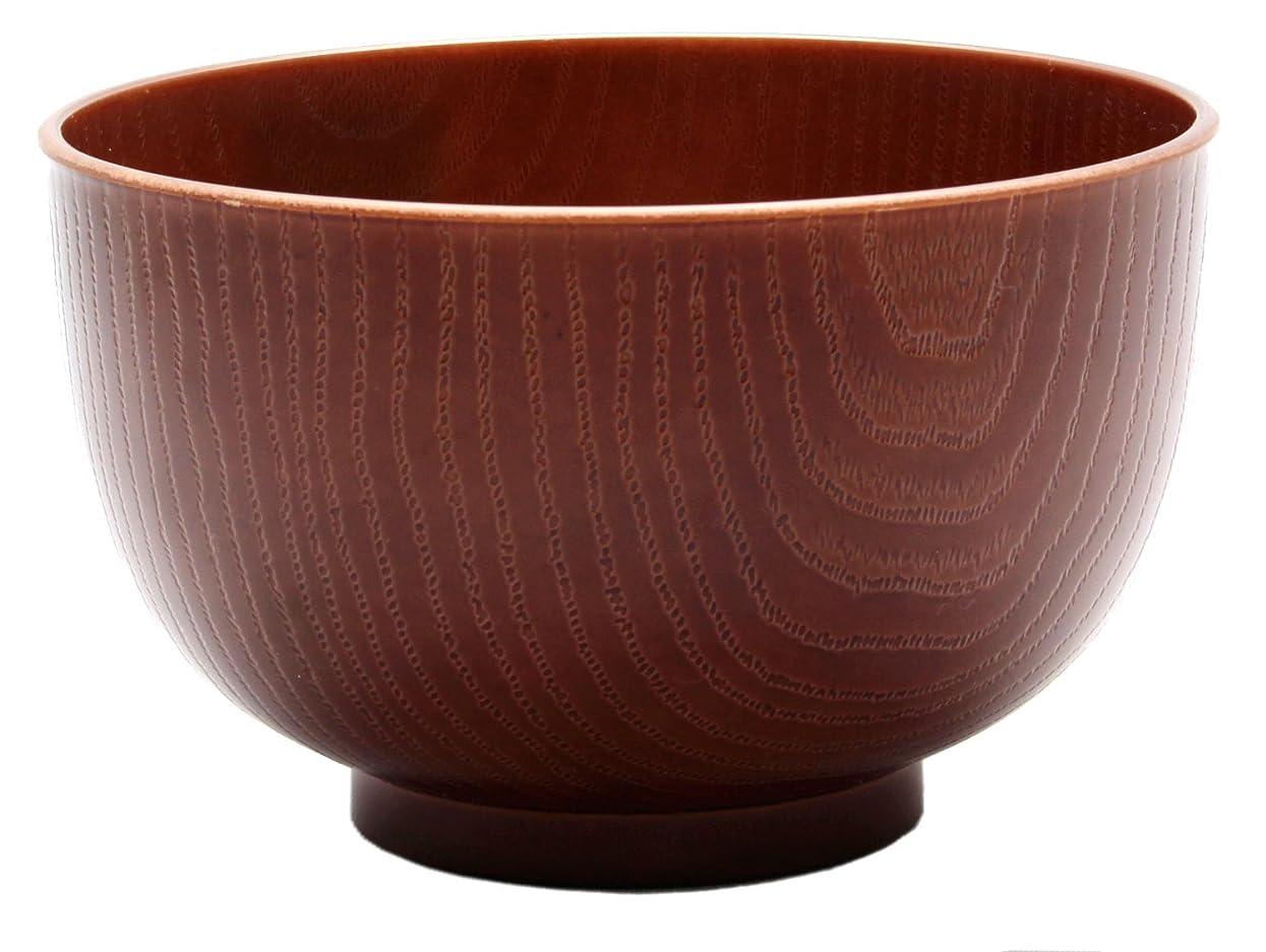 震え吸収するランクイシダ(Ishida) お椀 食洗機?電子レンジ対応 総塗 多用椀 プラスチック ブラウン