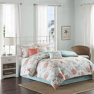 Madison Park Pebble Beach 7 Piece Comforter Set, Coral, King