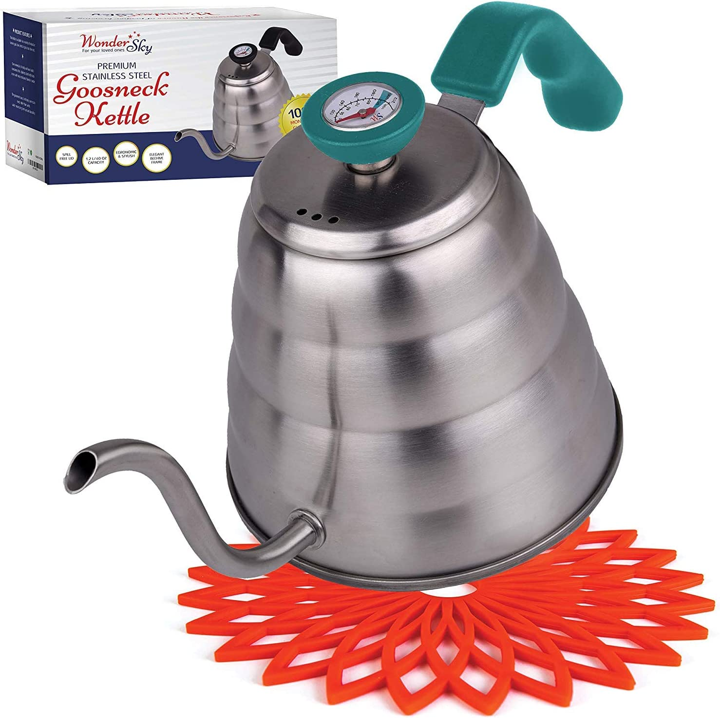 Premium Pour Over Coffee Trust Kettle Tem for Precise Cheap SALE Start with THERMOMETER